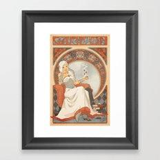 Game Nouveau Framed Art Print