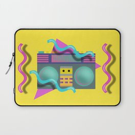 Retro Eighties Boom Box Graphic Laptop Sleeve