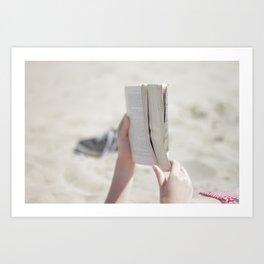 Beach Book Art Print