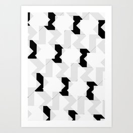 009 - Minimal Black and White Graphic Art Print