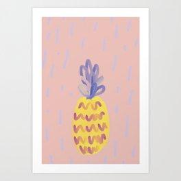 Pineapple Memphis Art Print