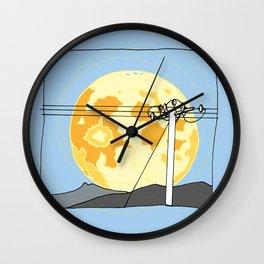 Telegraph moon Wall Clock