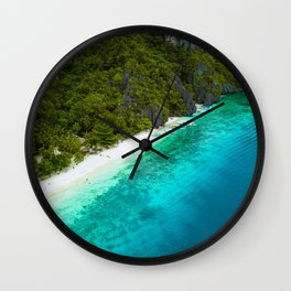 White sands and blue waters Wall Clock
