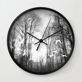 Ghost Forest Wall Clock