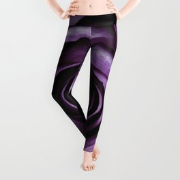 Purple Rose Decorative Flower Leggings