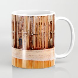 Lobster Traps and Red Sand Coffee Mug