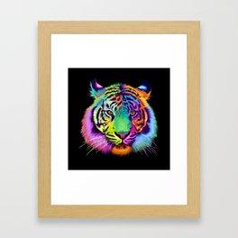 Chroma Tiger Framed Art Print