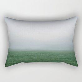 grass fog thick impenetrable field Rectangular Pillow
