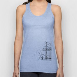 view from train Unisex Tank Top