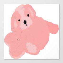 Pink Vector Puppy Canvas Print