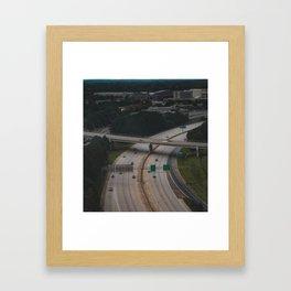 Over the over pass Framed Art Print