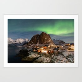 Northern Lights Over Hamnøy Art Print