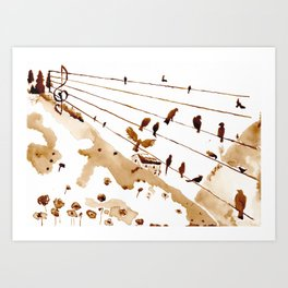 Music of th hills Art Print