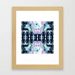 Blue Tropika Tie-Dye Framed Art Print