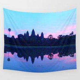 Sunrise at Angkor wat Wall Tapestry