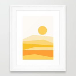 Abstract Landscape 09 Yellow Framed Art Print
