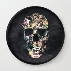Vintage Skull Wall Clock