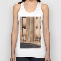buddhism Tank Tops featuring Buddhism ancient place in Sanchi by Four Hands Art