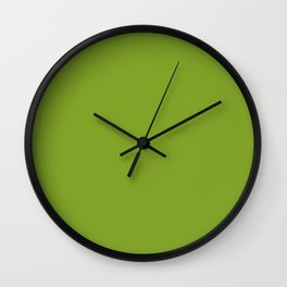 Bowl of Beauty ~ Spring Green Coordinating Solid Wall Clock