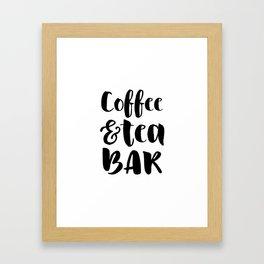 Coffee and tea bar Framed Art Print