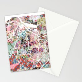 Honfleur map Stationery Cards