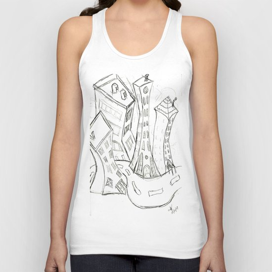 """Sketchy City Streets"" Unisex Tank Top"