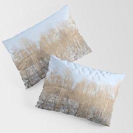 Snowfall and treetops Pillow Sham