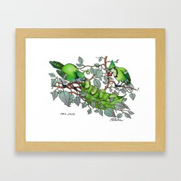 Pea Jays Framed Art Print