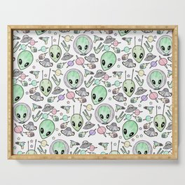 Alien and UFO pattern Serving Tray