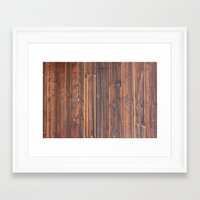 wooden Framed Art Prints featuring wooden by Katharina Nachher