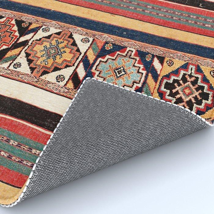 Salé  Antique Morocco North African Flatweave Rug Print Rug