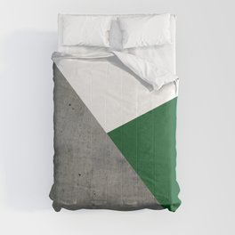 Concrete Festive Green White Comforters