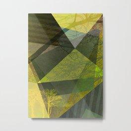 P24-2b Trees and Triangles Metal Print