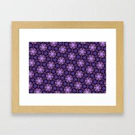 Ultra Violet Stars ornament on Dark Background Framed Art Print