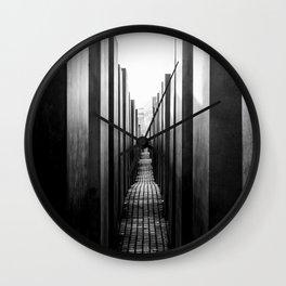 Holocaust memorial Geometry Wall Clock