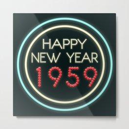Happy New Year 1959! Metal Print