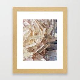 Sparkly Clear Magical Unicorn Crystal Shards Framed Art Print