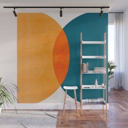 Mid Century Eclipse / Abstract Geometric Wall Mural