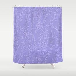 Round Eucalyptus Leaf Toss in Lavender Shower Curtain
