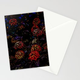Floral Fireworks Stationery Cards