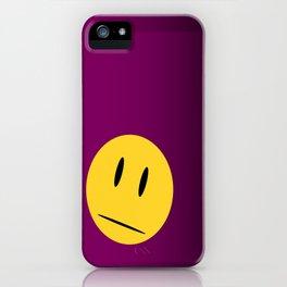 Purple Emoji iPhone Case
