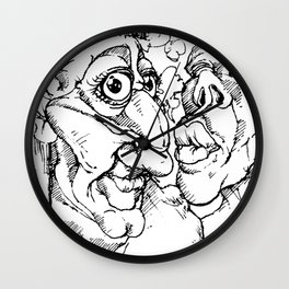 Napkins (Black and White) Wall Clock