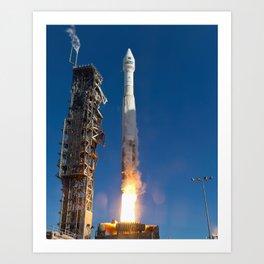 Landsat Spacecraft Launch 2013 Art Print