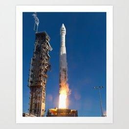 Landsat Spacecraft Launch 2013 Art Print