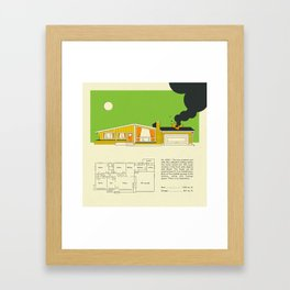 MID CENTURY HOME DESIGN 8324 Framed Art Print