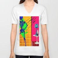 coke V-neck T-shirts featuring Coke by Alec Goss
