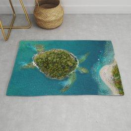 Turtle Island by the beach Rug
