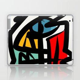 Street art abstract portrait pop Laptop & iPad Skin