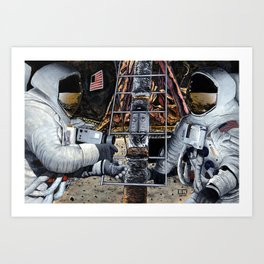 Unveiling the plaque Art Print