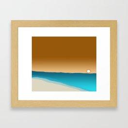beach sunset 2 Framed Art Print